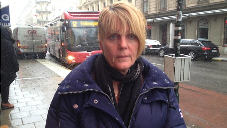 """""""Jag är orolig för naturen"""", säger Dalaröbon Annelie Josefsson. Foto Ulf Bungerfeldt, P4 Radio Stockholm"""