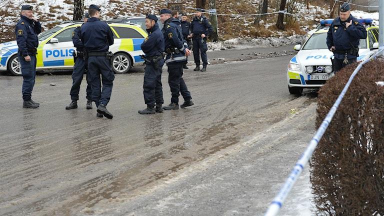 En man sköts ihjäl i Vaxholm på tisdagen. Foto: Johan Nilsson / TT