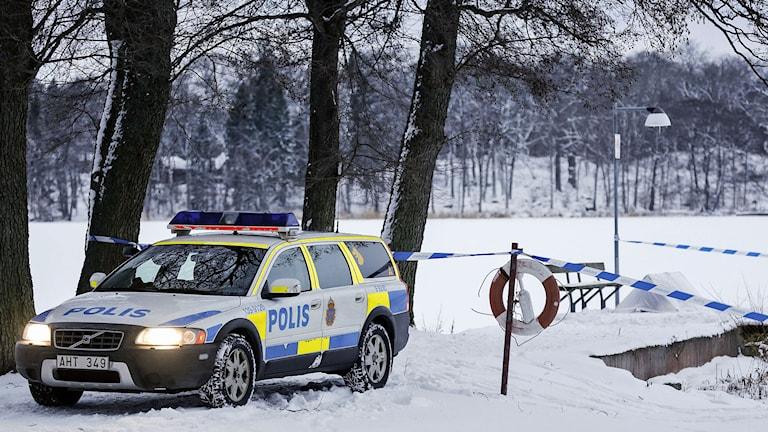 En anmäld försvunnen kvinna hittades död i en vak i Sigtuna. Foto: Christine Olsson/TT.