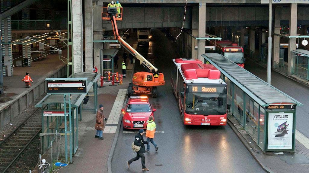 Slussenterminalen i Stockholm. Foto Leif Blom /TT.