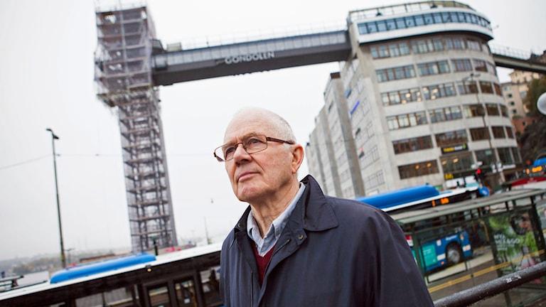 Ombyggnad av Slussen. Tor Edsjö, en av arkitekterna bakom det alternativa förslaget Plan B Foto: Robin Haldert / TT