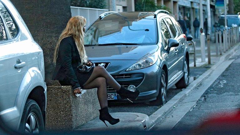 En prostituerad kvinna. Foto: AP Photo /TT.
