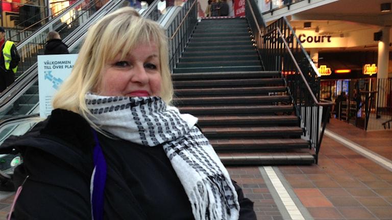 Lyssnaren Leena Rundgren tipsade om tråkiga Tyresö centrum. Så då åkte vi dit. Foto: Björn Lindberg Sveriges Radio