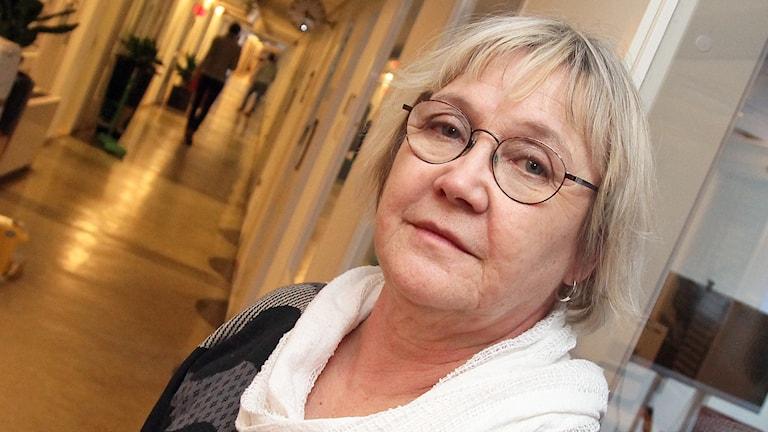 Ann-Margarethe Livh (V). Foto: Helen Ling /Svergies Radio.