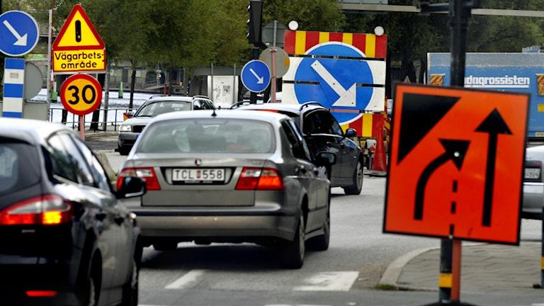 Brobyggen medför ofta trafikproblem.Foto Tomas Oneborg / SVD / TT