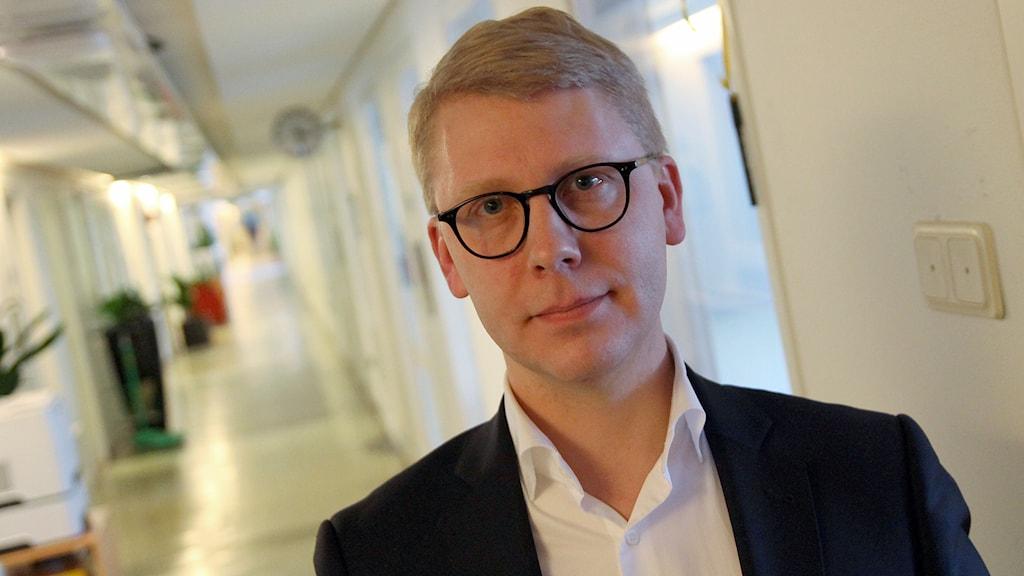 Kristoffer Tamsons (M), trafiklandstingsråd. Foto: Helen Ling /Sveriges Radio.