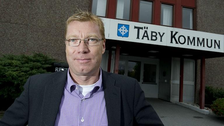 Leif Gripestam (M), kommunstyrelsens ordförande i Täby. Foto: Jonas Ekströmer/Scanpix
