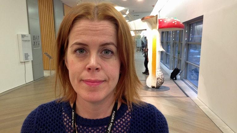 Kristin, pressekreterare på Moderna Museet. Foto: Björn Lindberg /Sveriges Radio.