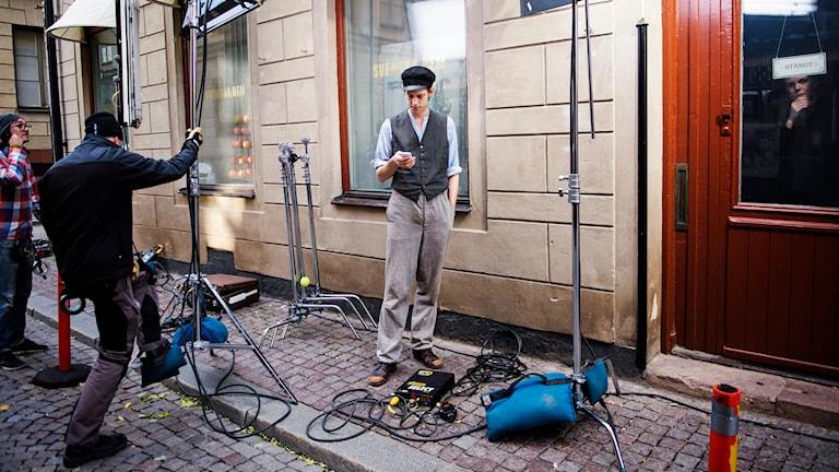 Inspelningen av den nya säsongen av 'Fröken Frimans krig'. Foto: Fanni Olin Dahl / TT.