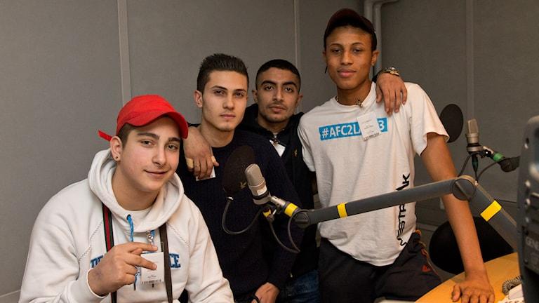 Steffanos, Ali, Amadou, och Lionell