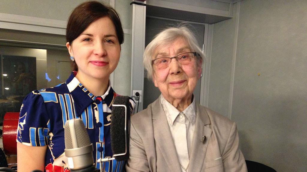 Laura Ringbom och Maj Raudpähn Foto: Pablo Paez /SR