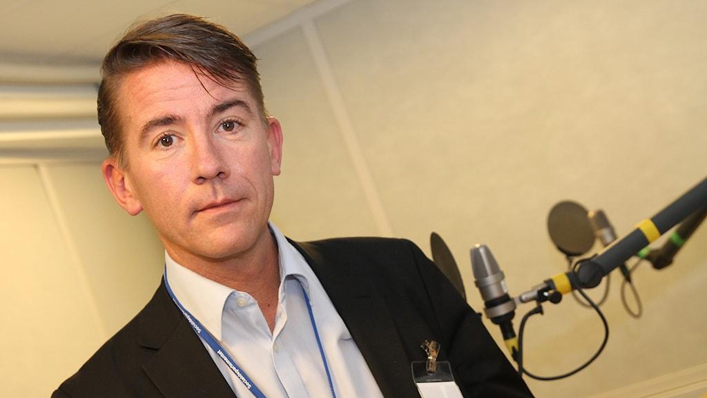 Martin Valfridsson, nationell samordnare för arbetet med utsatta EES-medborgare. Foto: Helen Ling /Sveriges Radio.