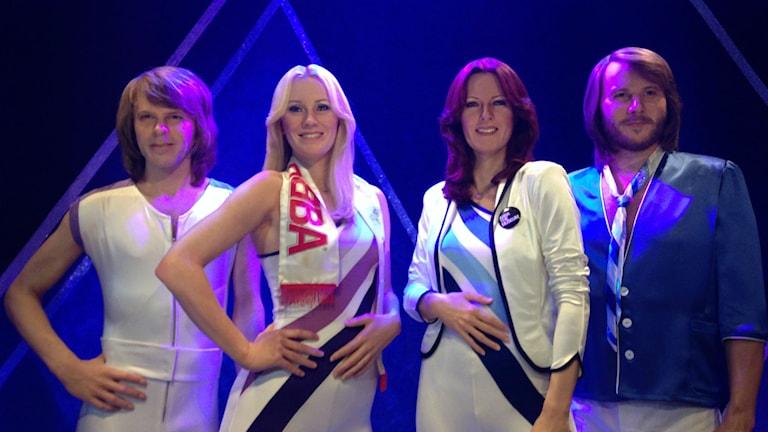 ABBA som silikondockor. Foto: Linda Aktén/Sveriges Radio