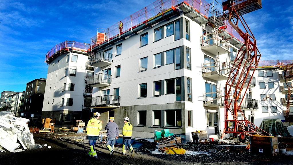 En byggarbetsplats i Fruängen. Foto: Tomas Oneborg /TT.