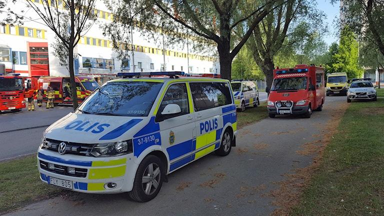 Pulver hittat vid postterminalen i Årsta
