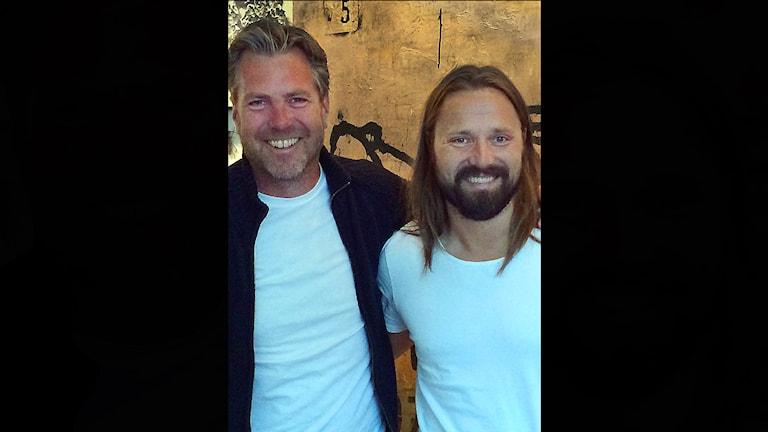 Max Martin och Fredrik Eliasson från P4 Stockholm. Foto: Sveriges Radio.