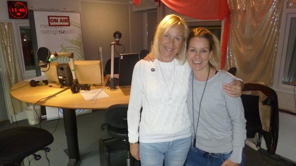 Ingela Pling Forsman och Linda Bengtzing. Foto: Fredrik Ralstrand/Sveriges Radio