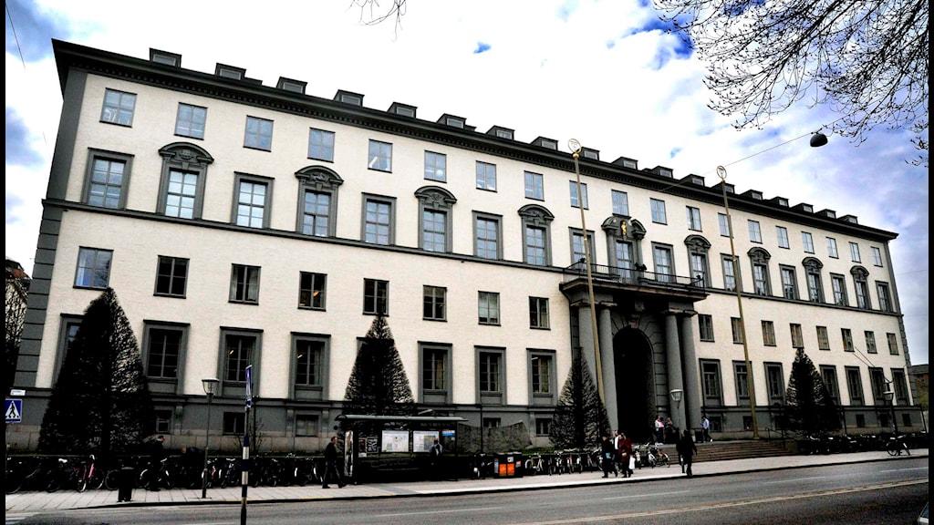 Handelshögskolan i Stockholm har högst andel disciplinärenden mot studenter. Foto: Hasse Holmberg/TT.