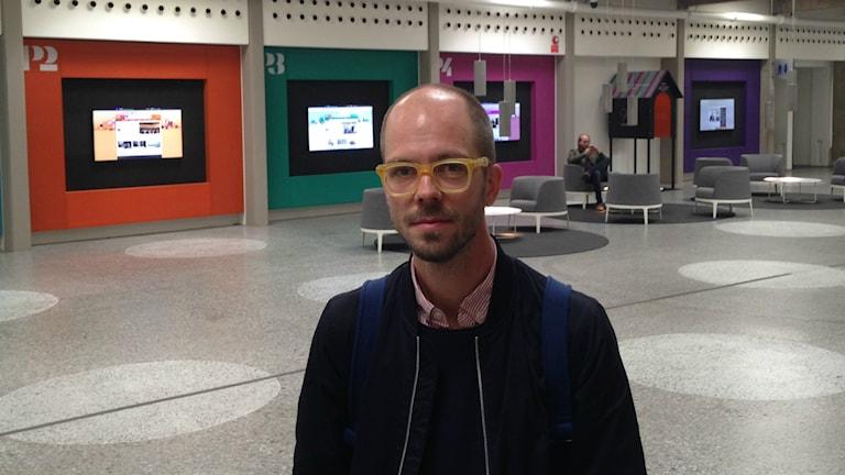 Einar Ehn är bibliotekarie på Villastadens bibliotek i Hässelby