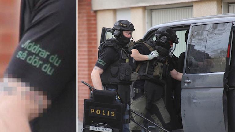 Bilden togs av en frilansfotograf i samband med en skottlossning i Jakobsberg. Foto: TT