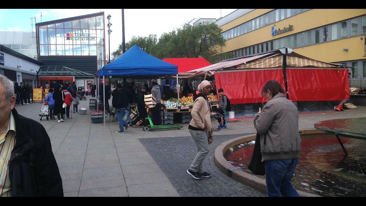 Tensta was calm Saturday morning, Photo: Ulf Bungerfeldt/Sveriges Radio