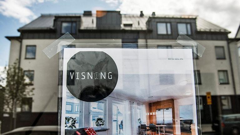 Bostadpriser sjunker i Stockholm. Foto: Tomas Oneborg/TT