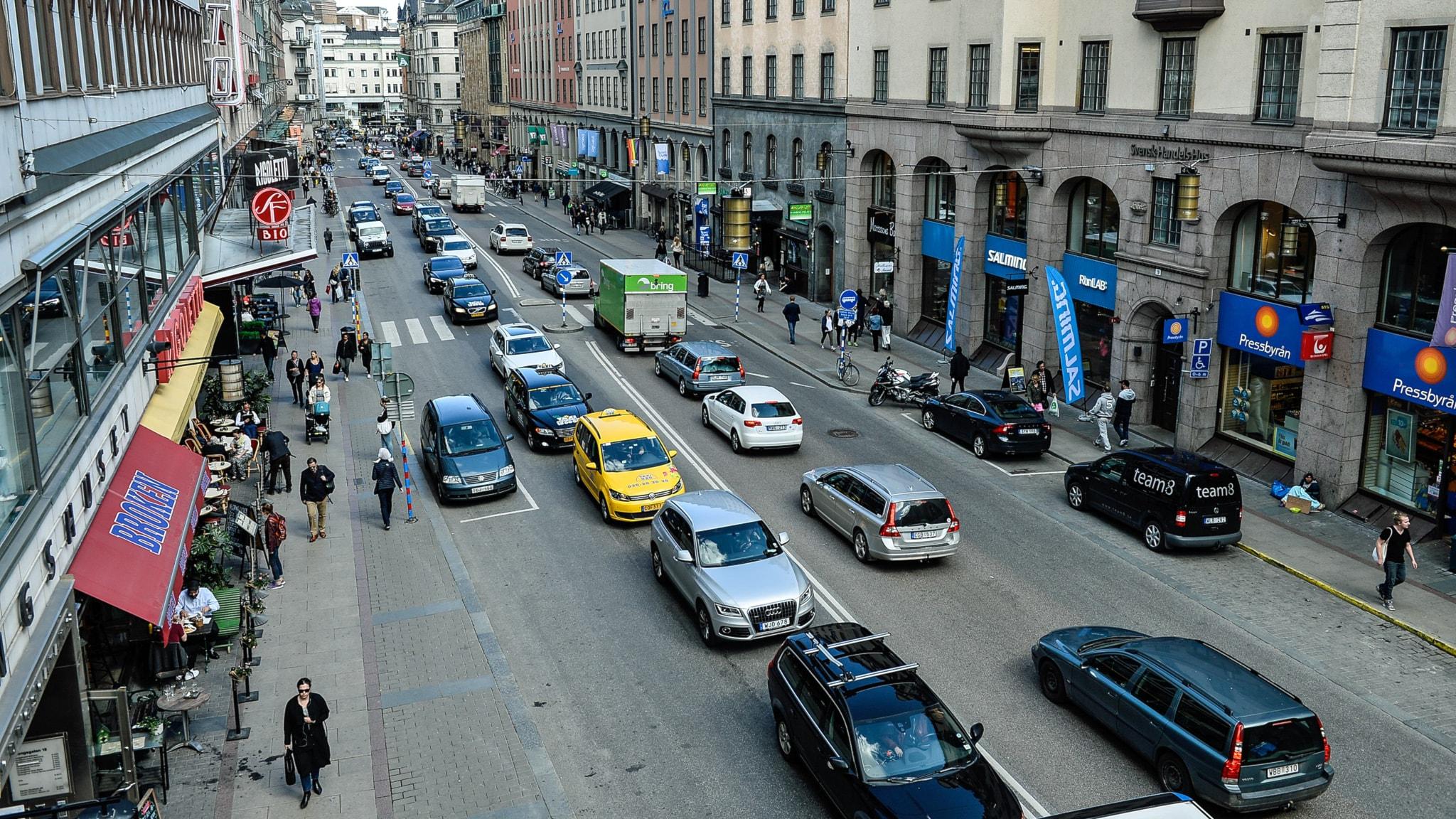 Biltrafiken minskar i innerstan