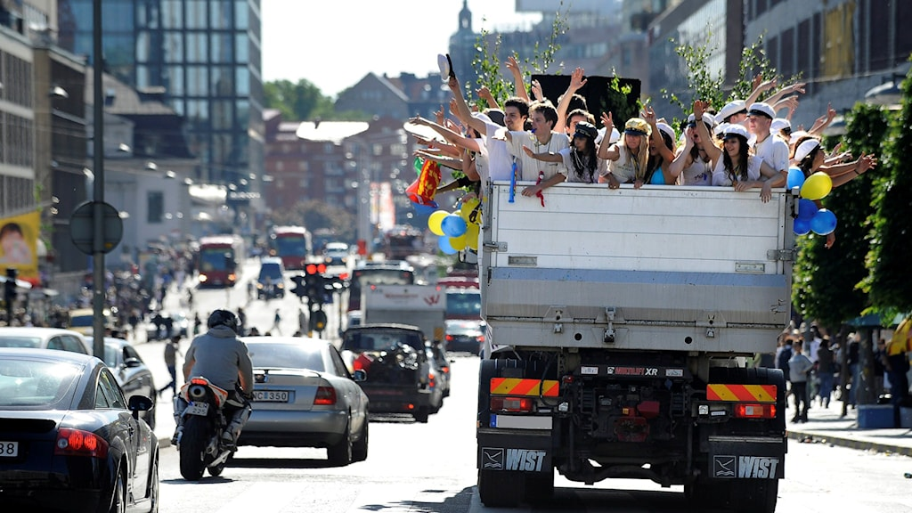 Studentflak. Foto: Anders Wiklund/TT
