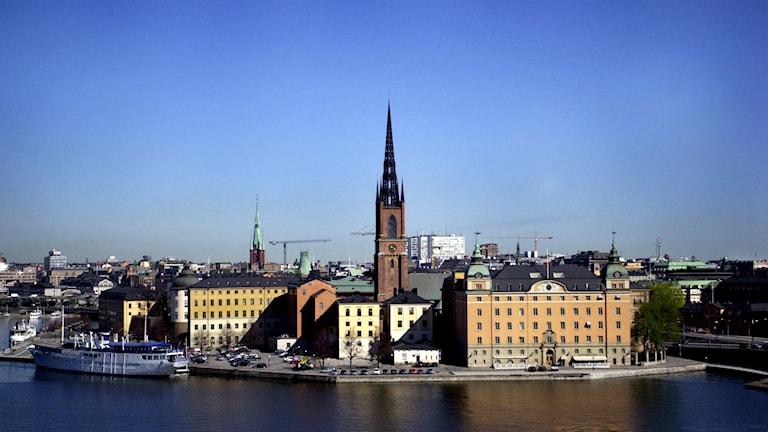 Riddarholmen med Riddarholmskyrkan. Foto: Anna Hållams/TT.