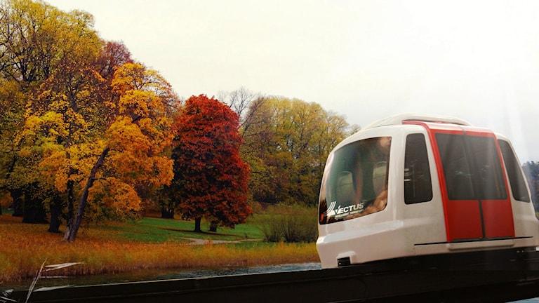 Så här kan den förarlösa taxin se ut. Foto: Chrisyian Nützel/Vectus/ Hasse Saxinger.