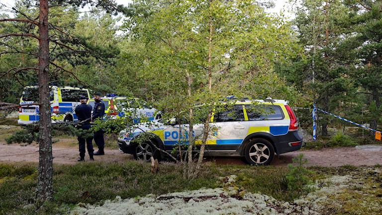 En 21-årig kvinna har hittats död vid ett motionsspår i Upplands Väsby. Foto: Christine Olsson/TT.