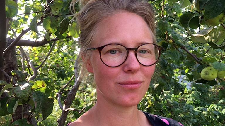 Före detta hemtjänstmedarbetaren Malin Åkerström. Foto: Cecilia Ingvarsson/Sveriges Radio