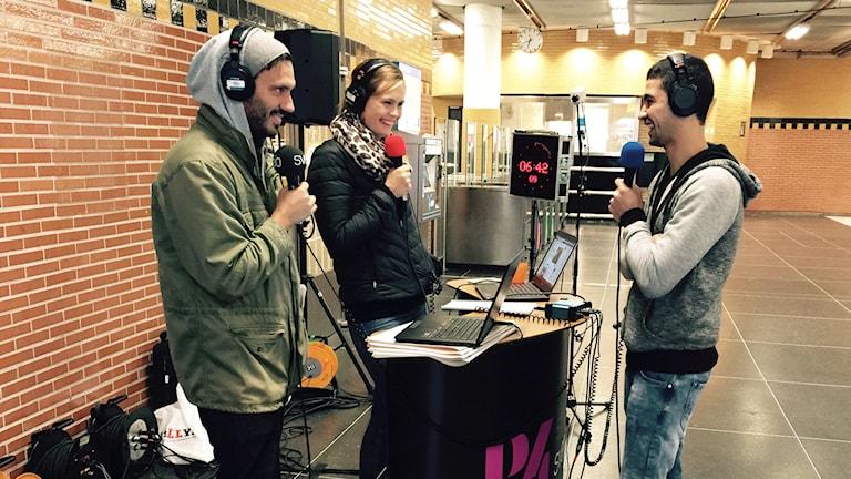 Sohaib har lärt sig svenska via P4 Stockholm