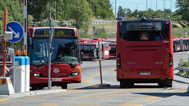 Arrivas bussgarage