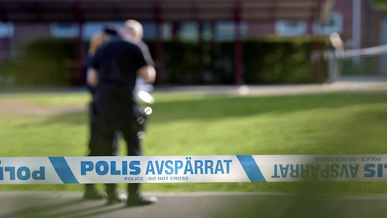 Polisavspärrning. Arkivfoto: Ulf Palm / TT.