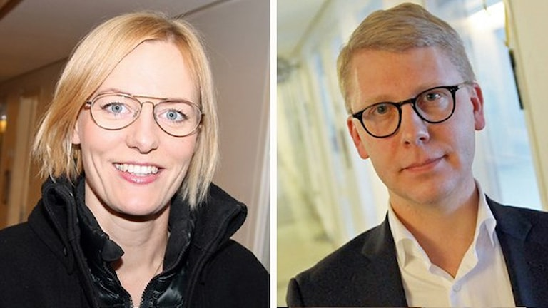 Erika Ullberg (S) och Kristoffer Tamsons (M). Fotomontage: Helen Ling /Sveriges Radio.