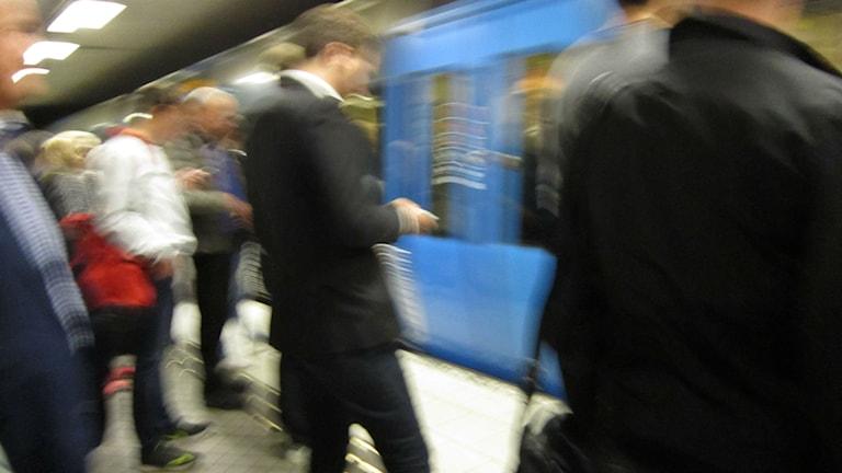 Trängsel i tunnelbanan