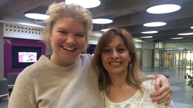 Ebba Åkerman och Lina Lakso. Foto: Ylva Bogegård/SR