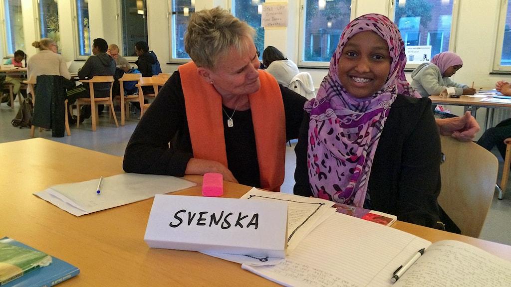 Farits går i årskurs sex. Foto: Sveriges Radio.