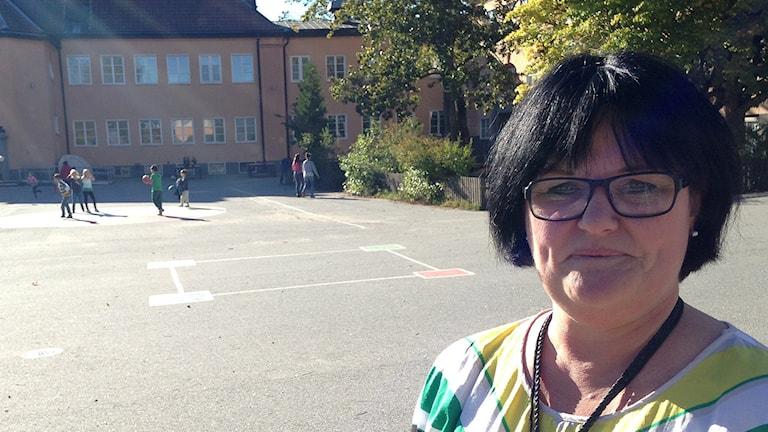 Läraren Nina Eneris. Foto: Mariela Quintana Melin/Sveriges Radio