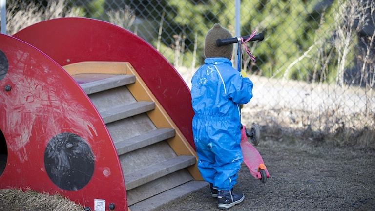 Förskolebarn. Foto: Gorm Kallestad /Svanpix