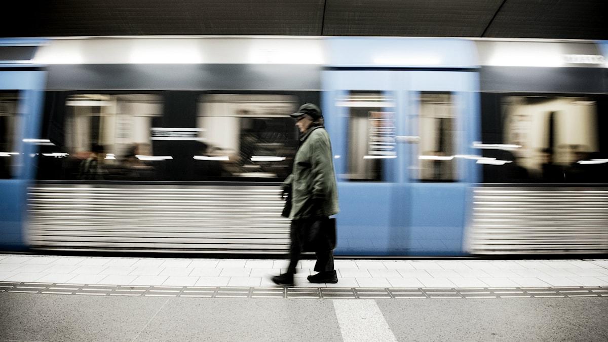 Stockholms tunnelbana. Foto: Foto: Malin Hoelstad/TT