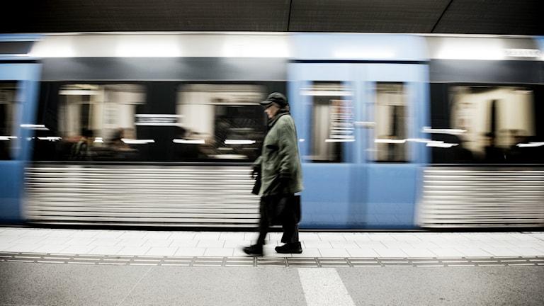 Stockholms tunnelbana. Foto: Malin Hoelstad/TT
