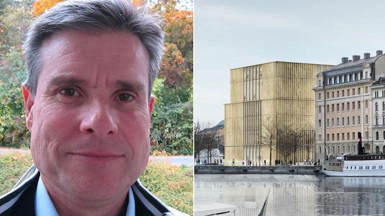 Björn Ljung (FP) är mot rivningen av tullhuset. Foto: Per Stahre/David Chipperfield Architects.