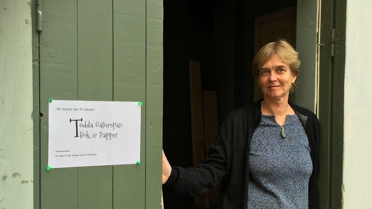 Tudda Galumpa bok och pappershandel öppnar i Järna. Foto: Peter Lindberg Sveriges radio