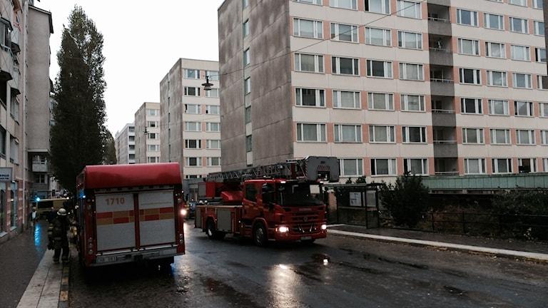 Brand på Magnus Ladulåsgatan.