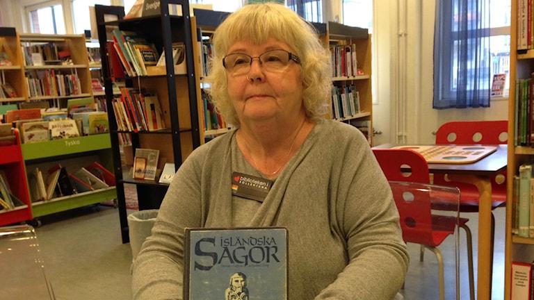 Ewa Rensjö, samordnare för läsfrämjande verksamhet på biblioteken i Sollentuna.