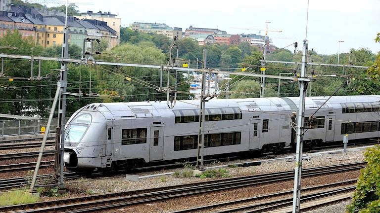 Tvåvåningståg, SJ-tåg i Stockholm Foto: Bertil Ericson/TT