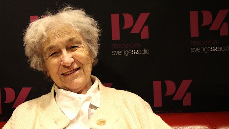 Cancerforskaren Eva Klein. Foto: Madeleine Rollenhagen/Sveriges Radio
