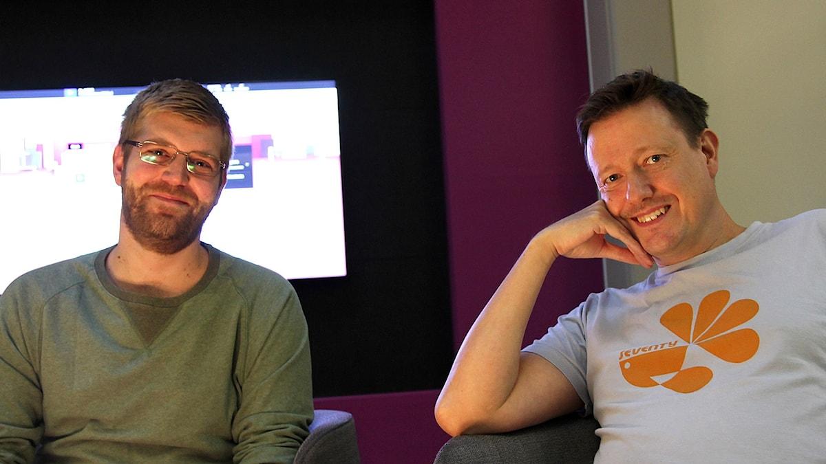 Stefan Hammarbäck och Niklas Gerholm gästar P4 Stockholm. Foto: Madeleine Rollenhagen/Sveriges Radio